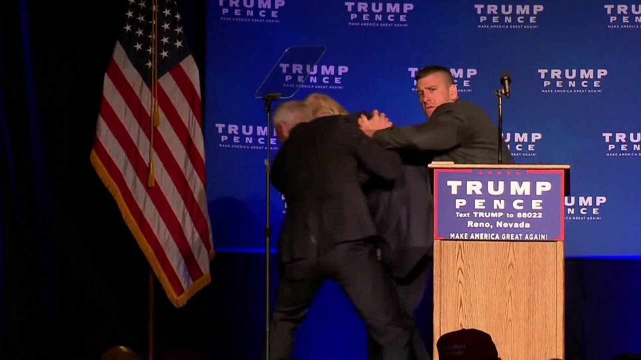 Trump rushed off stage by Secret Service at Nevada campaignrally