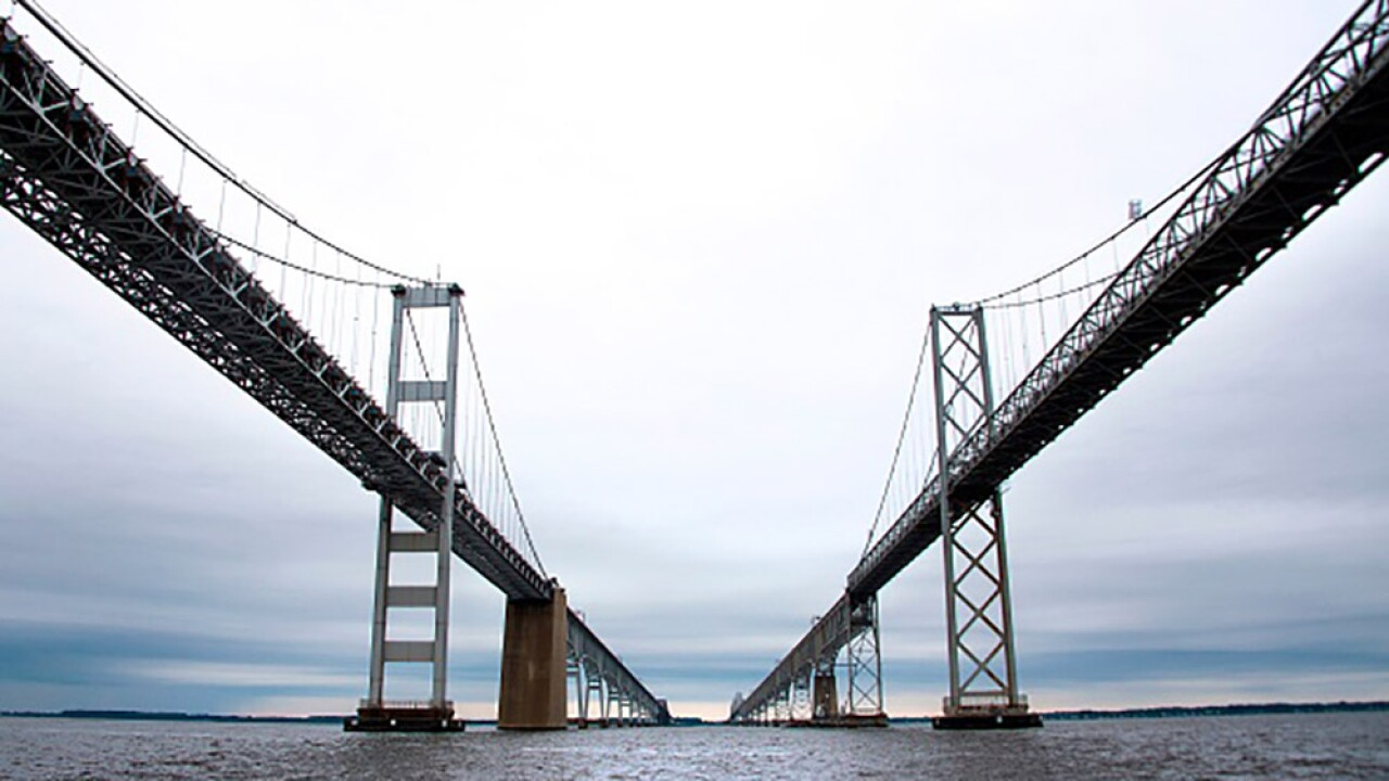 A person threatened to jump off the Bay Bridge, causing lane