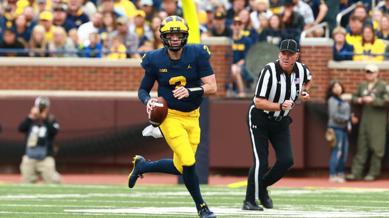 Shea Patterson, No. 21 Michigan rout Western Michigan in home opener