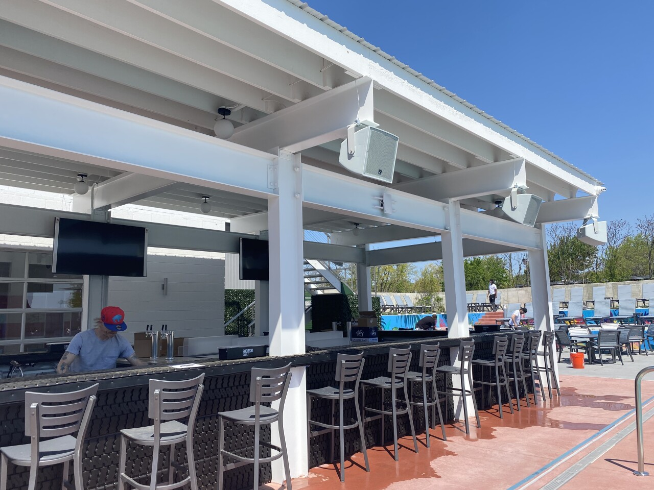 Tappo Day Club has two bars to enjoy
