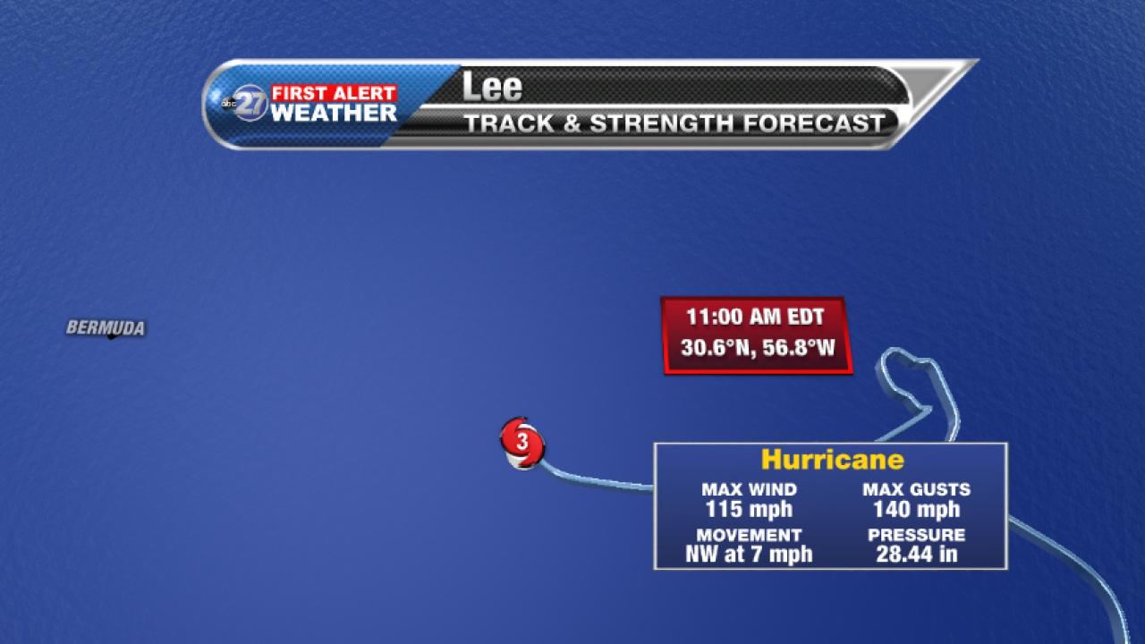 Hurricane Lee Advisory (11am 09/27/2017)