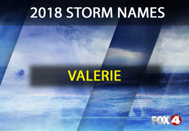 Storm names for the 2018 hurricane season