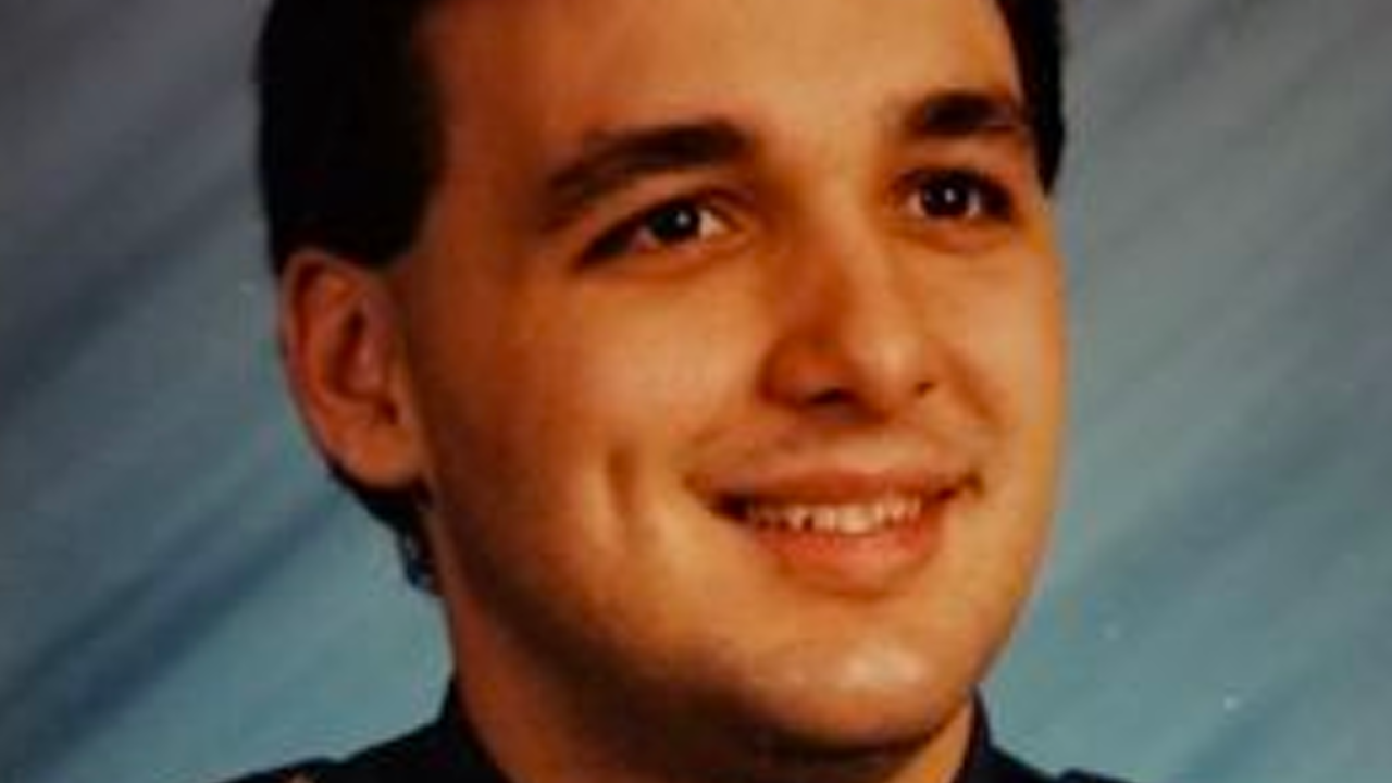 Richard Vande Ryt as a Green Township police officer in the 1990s