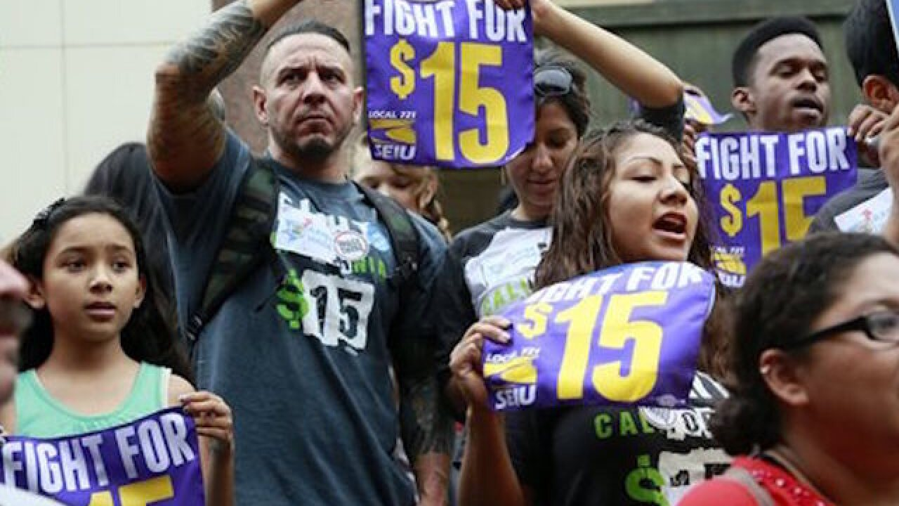 California to raise minimum wage to $15 an hour