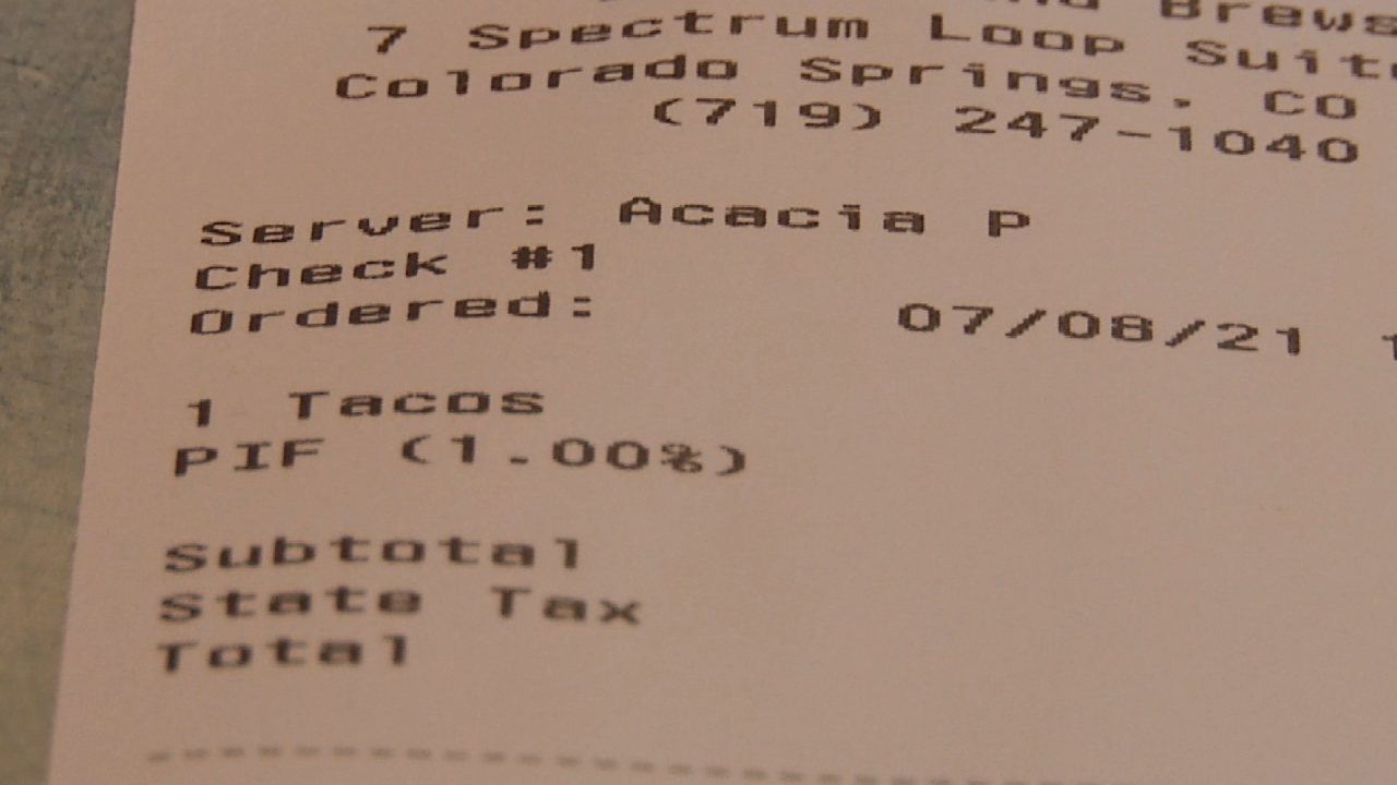 What are public improvement fees found on receipts at local businesses, restaurants?