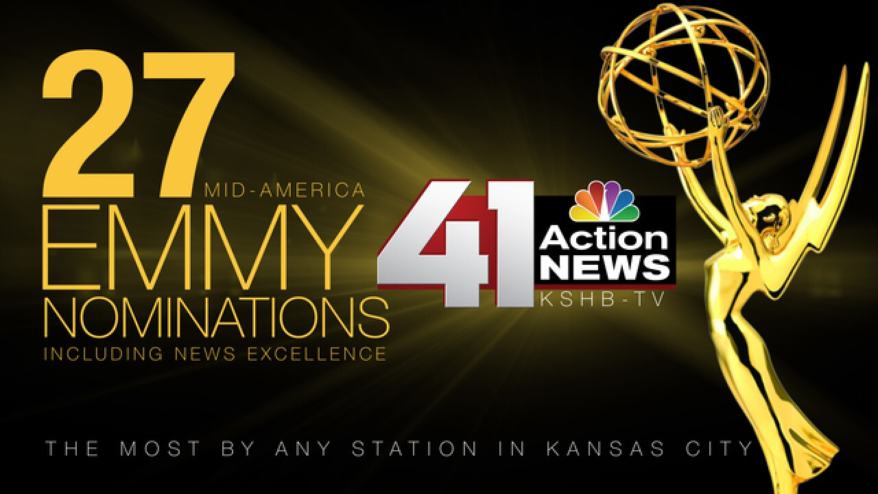 KSHB receives 27 Mid-America Emmy Nominations