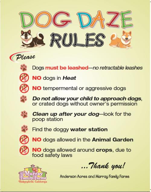 Dog Daze rules