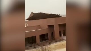 Winds rip roof from MSU-Northern building