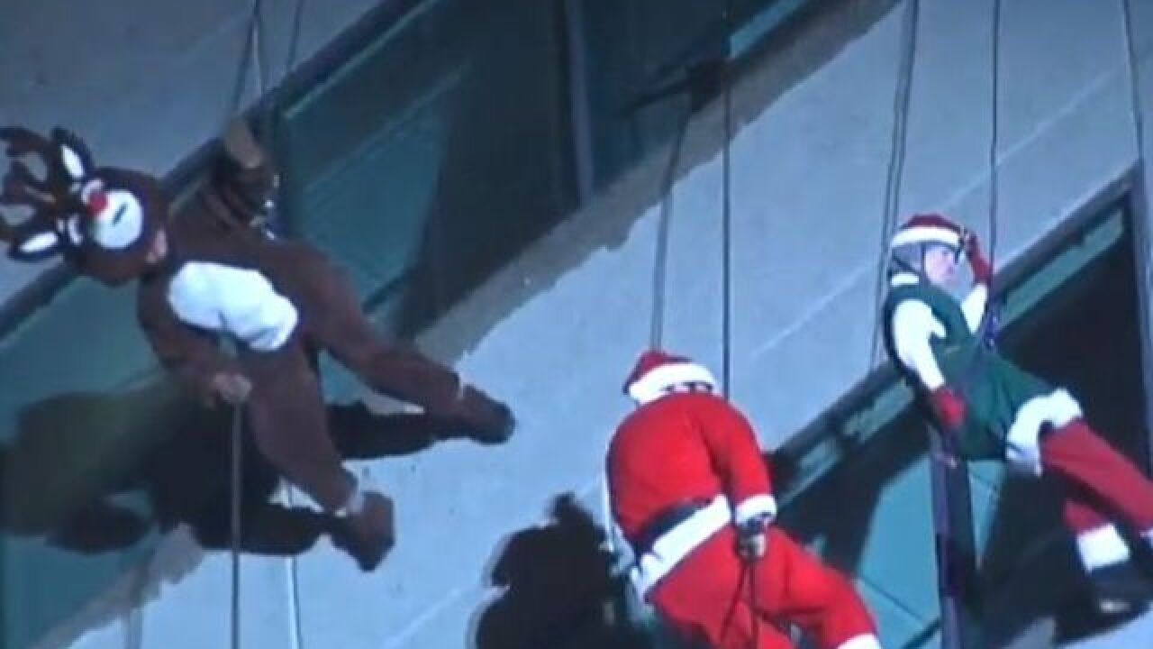 WATCH: Santa joins holiday fun the hard way