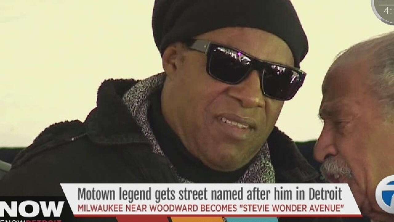 Detroit to unveil Stevie Wonder Ave. today