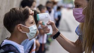 APTOPIX Virus Outbreak Spain Schools