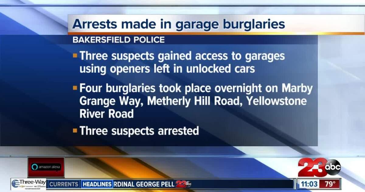 BPD: Arrests made in string of garage burglaries