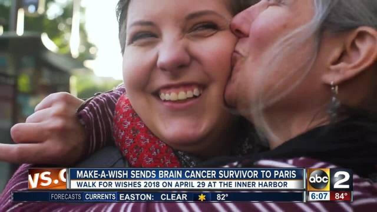 18yo brain cancer survivor sent to Paris