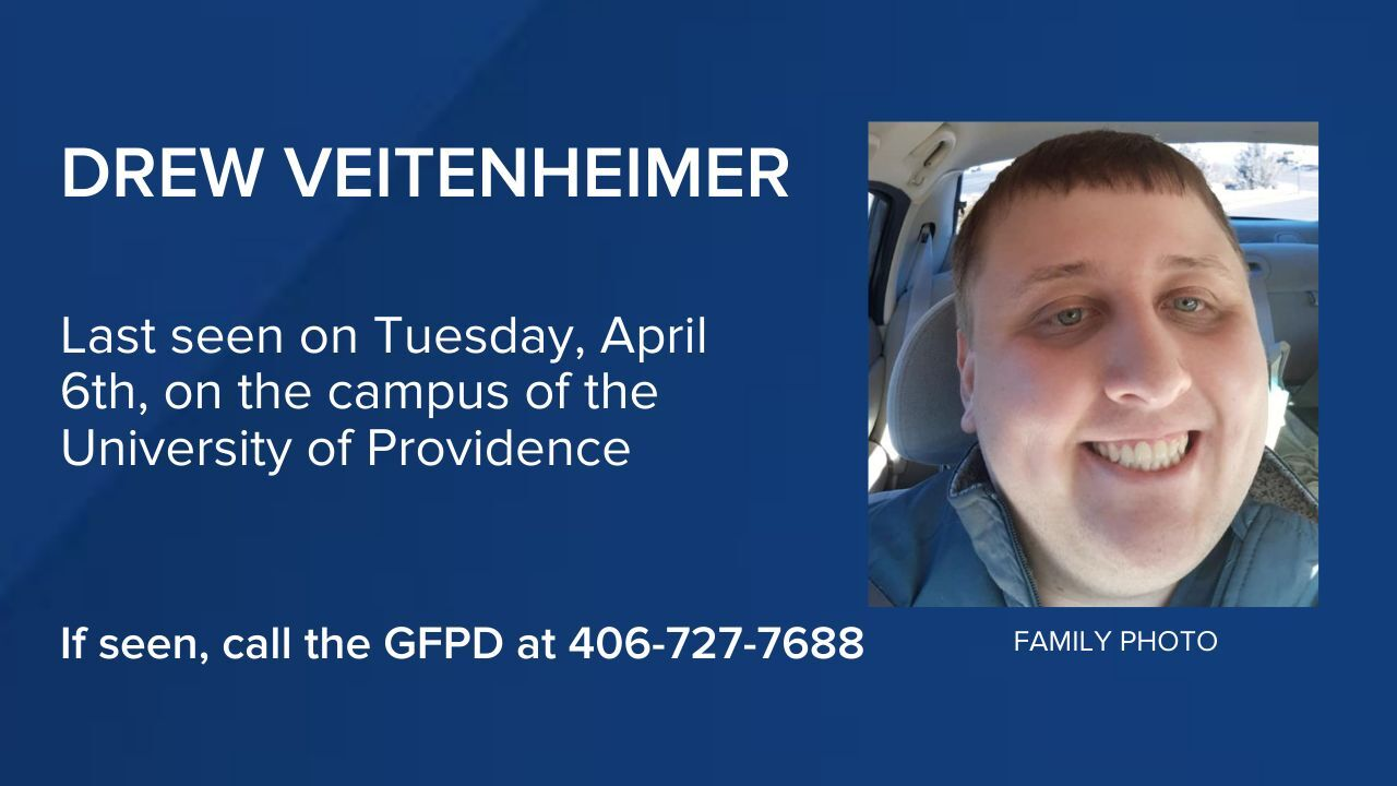 Drew Veitenheimer of Great Falls has been reported missing.