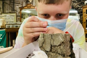 Montana Learning Center campers help unearth marine reptile fossil