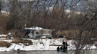 Reserve Street Bridge Homeless Camp Fire