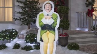 You Can Buy A Life-size Inflatable Buddy The Elf Lawn Decoration For The Holidays