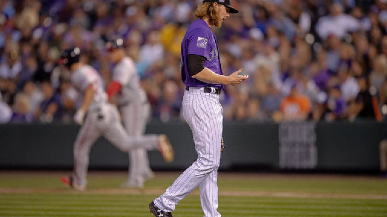 Up with Purple turns Gray as pitcher falters