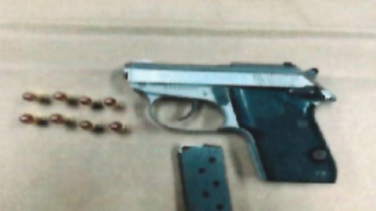 Stolen gun discovered during traffic stop
