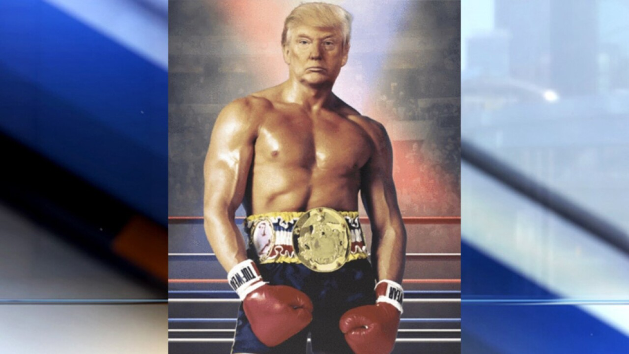 Trump tweets photo of himself as fictional boxer Rocky Balboa with no explanation