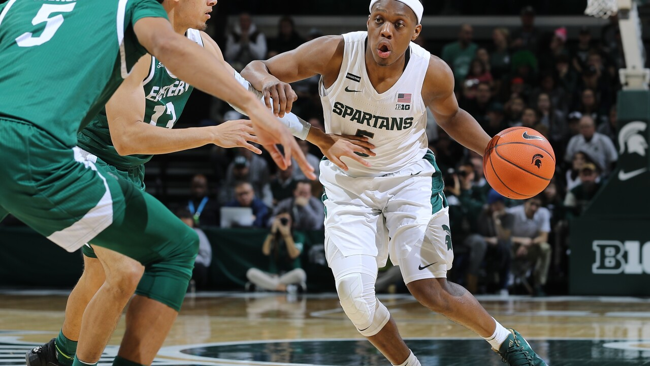 Cassius Winston, No. 15 Michigan State rout Eastern Michigan