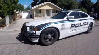 Tampa Police cruiser on street