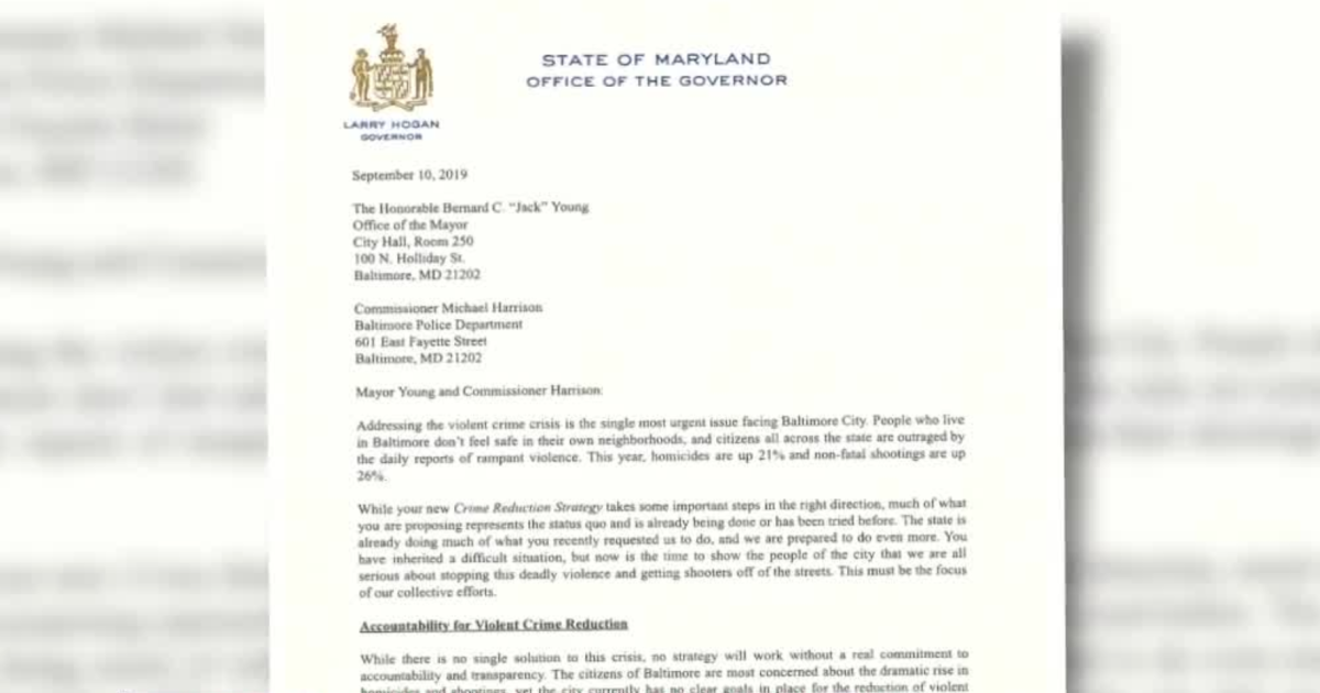 City leaders respond to Governor Hogan's letter regarding crime in Baltimore