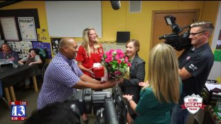 Utah teacher battling breast cancer gets surprise from Fox 13 Dream Team