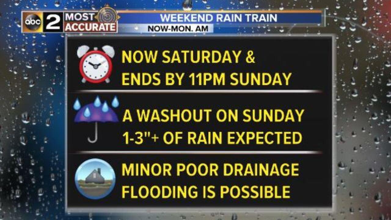 FLOODING CONCERNS: Heavy Rain Train