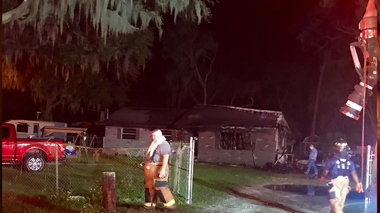 Man saves daughter, dog from Lithia house fire
