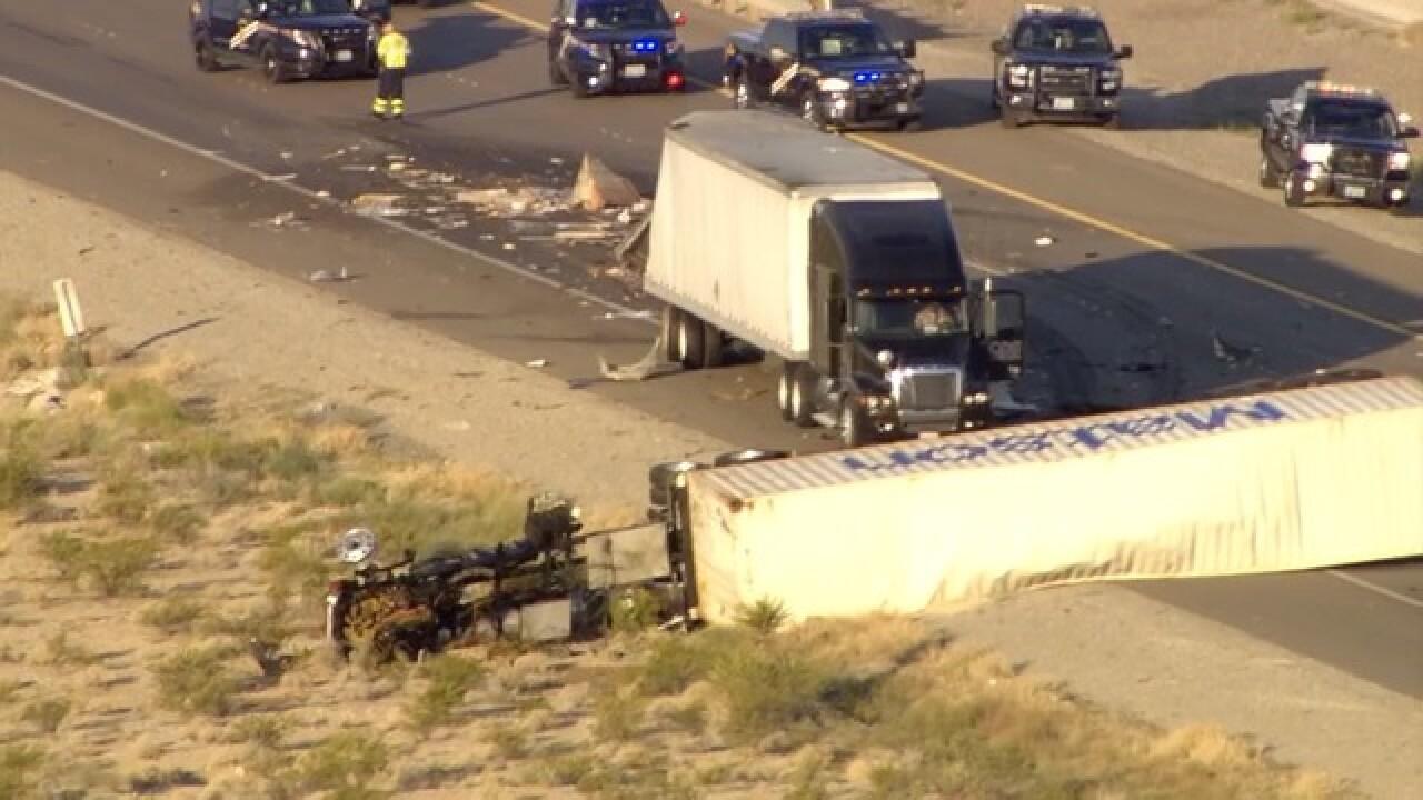 Drivers stuck in scorching desert heat on I-15 near Jean, NV