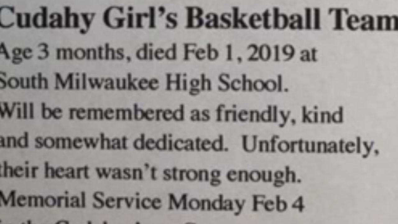 Mock obituary about Cudahy girls basketball team stirs emotions