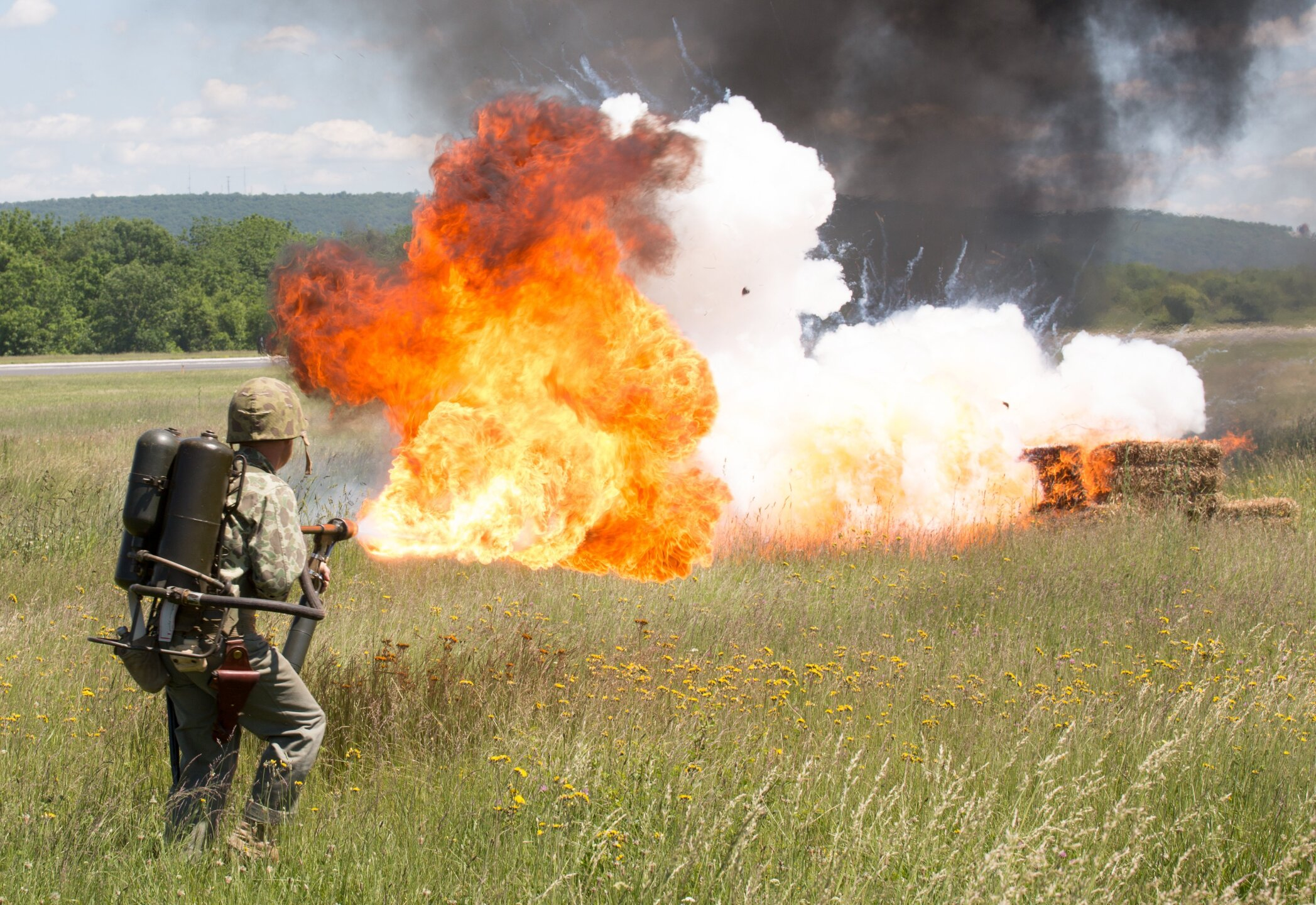 Photos: Flamethrowers – given up by the military – are now being sold to the public