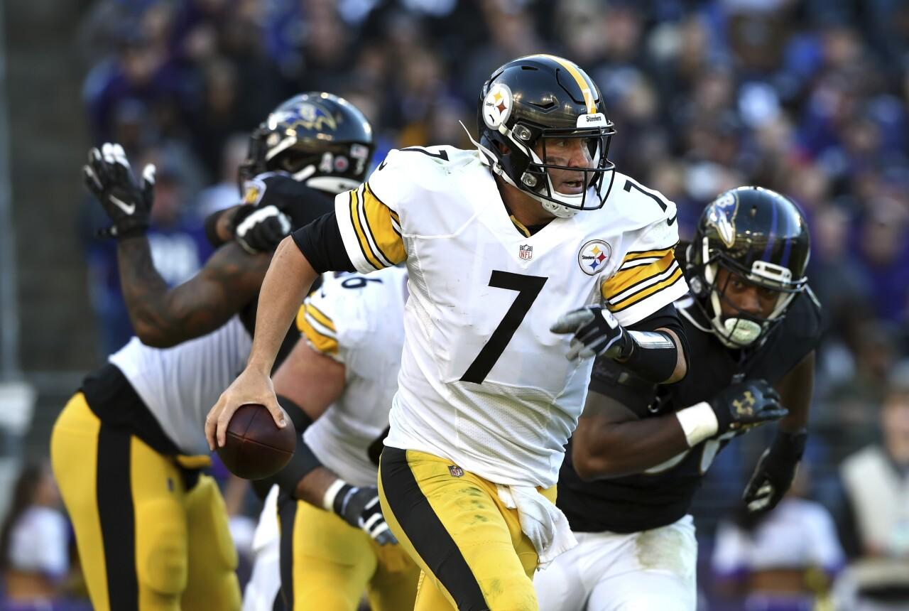 Pittsburgh Steelers QB Ben Roethlisberger vs Baltimore Ravens in 2018
