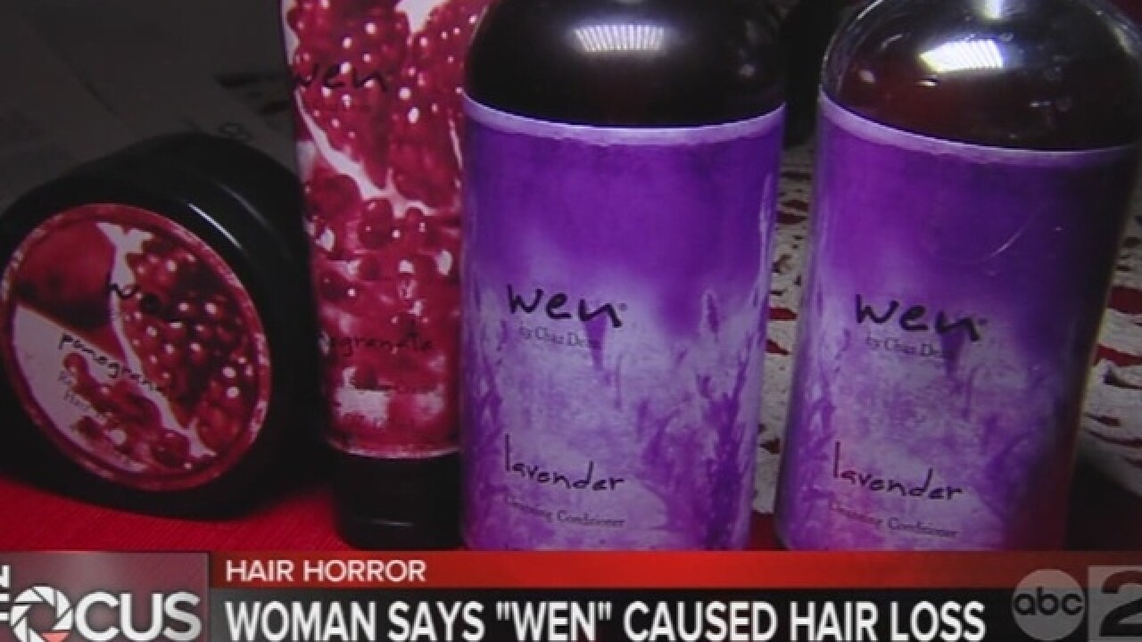 "Aberdeen woman claims ""WEN"" caused hair loss"