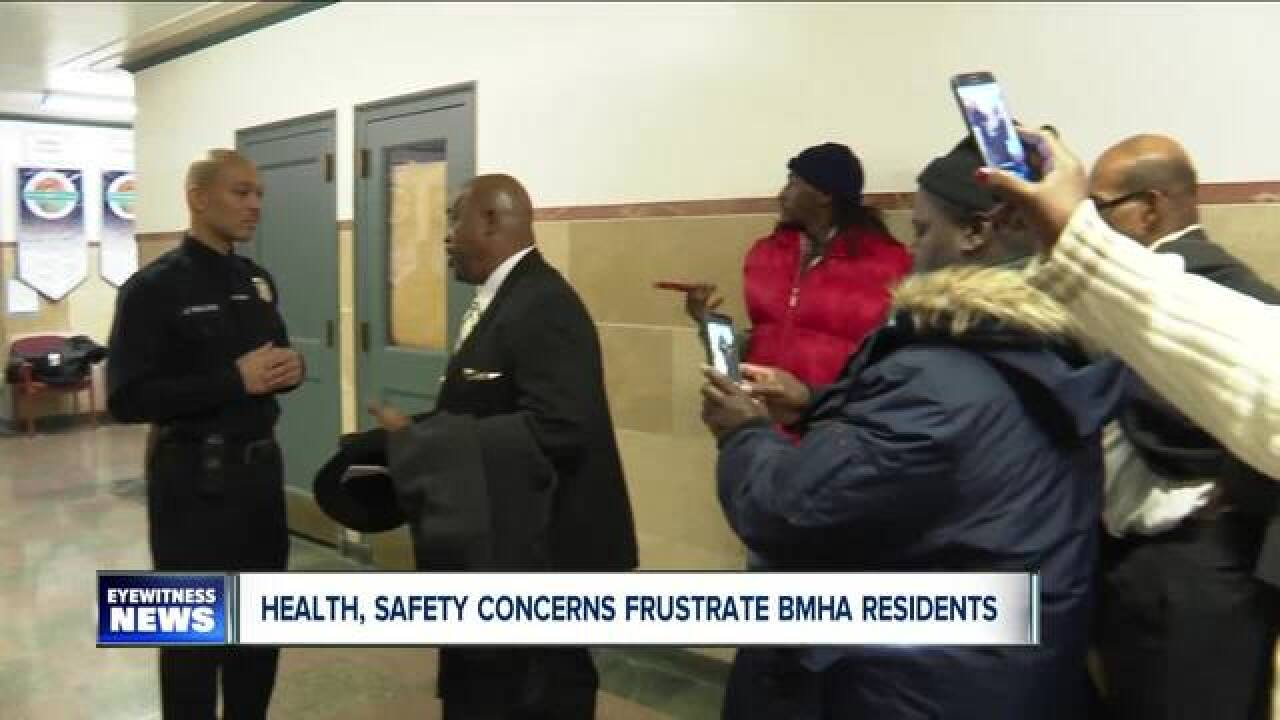 BMHA residents turn to city hall for help