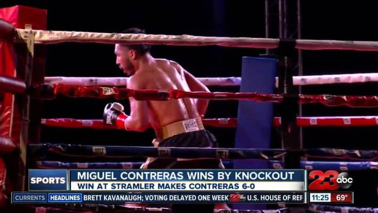 Miguel Contreras wins by knockout, stays undefeated