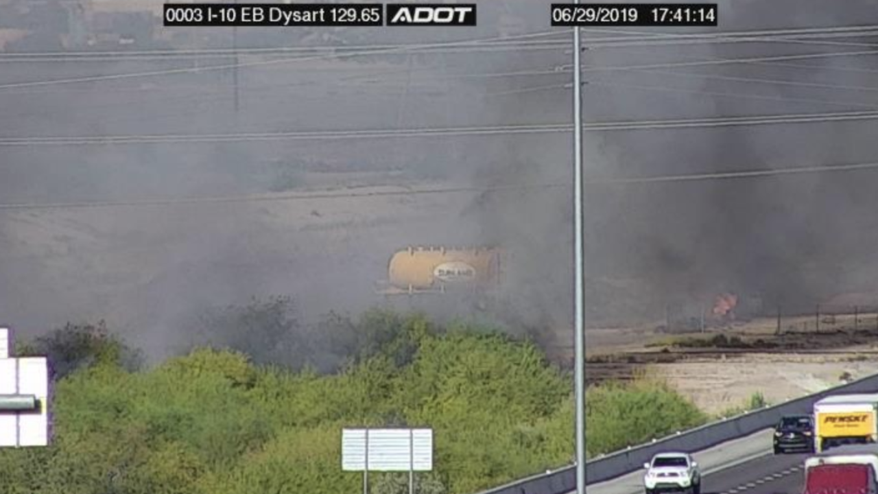 Brush fire I-10 and Dysart in Avondale