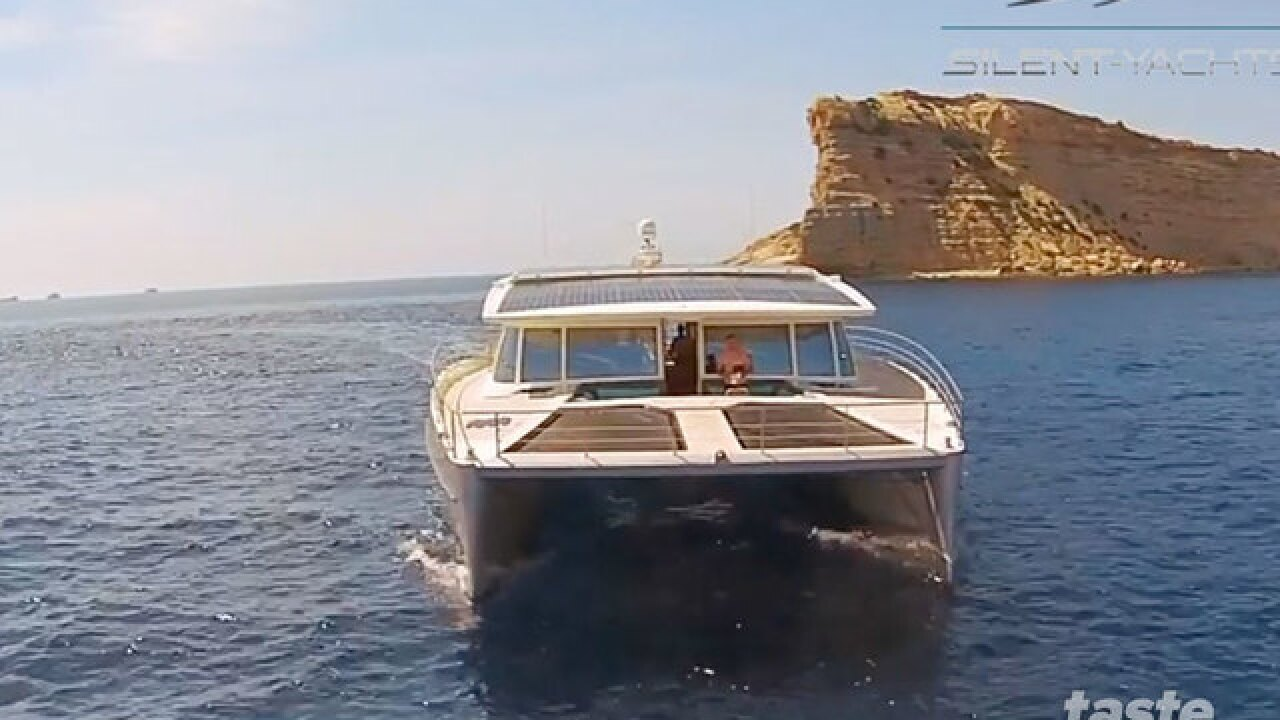 Solar-powered yacht is being called the Tesla of the Seas