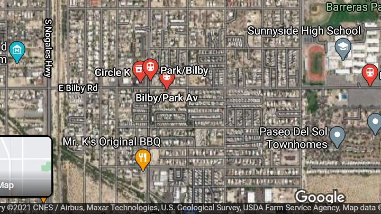 Tucson police investigated a shooting near Park and Bilby Thursday.