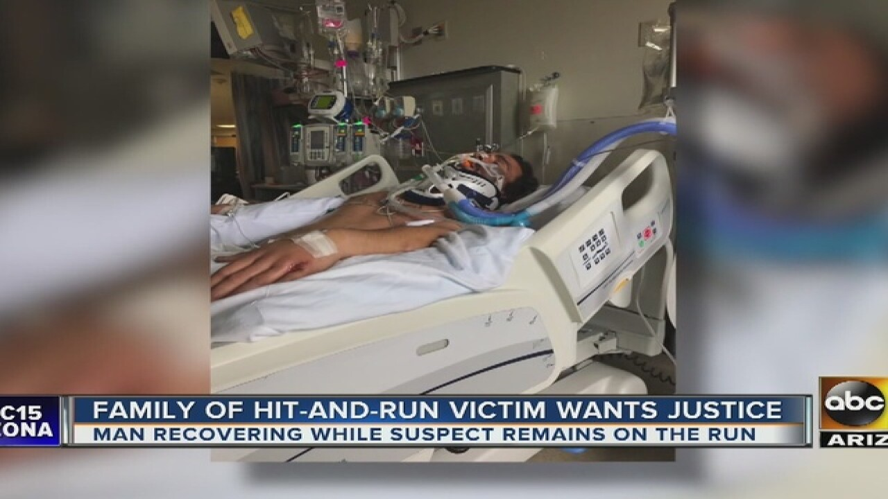 Man hospitalized after PHX hit-and-run