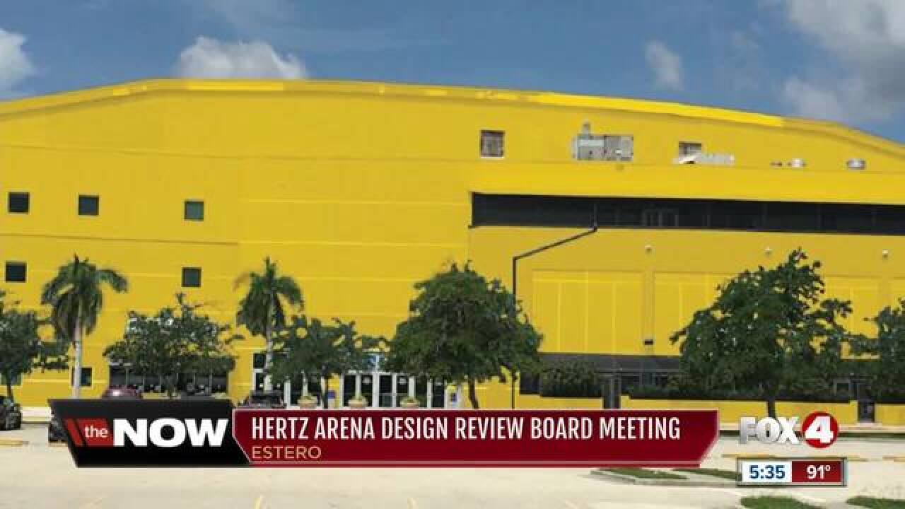 Proposed Hertz Arena paint job to be discussed