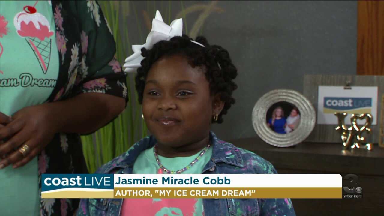 Six-year-old author Jasmine Miracle Cobb shares her ice cream dream on Coast Live