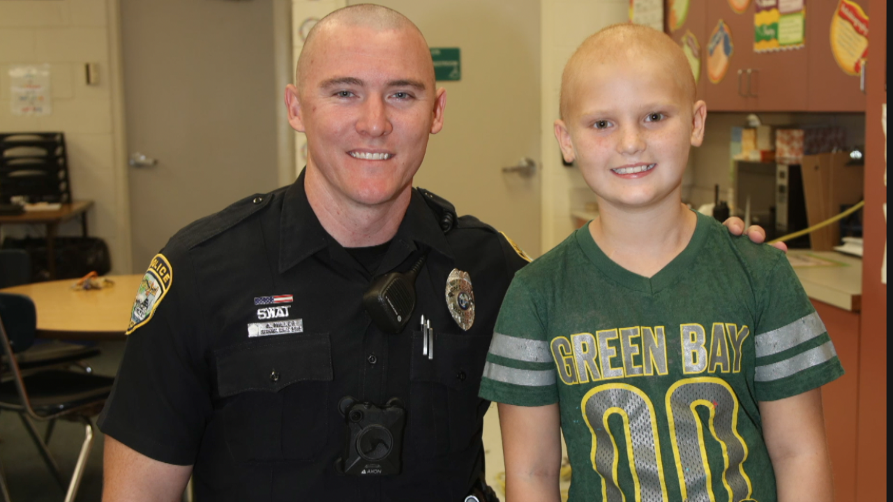 Amalia and Officer Andrew Miller