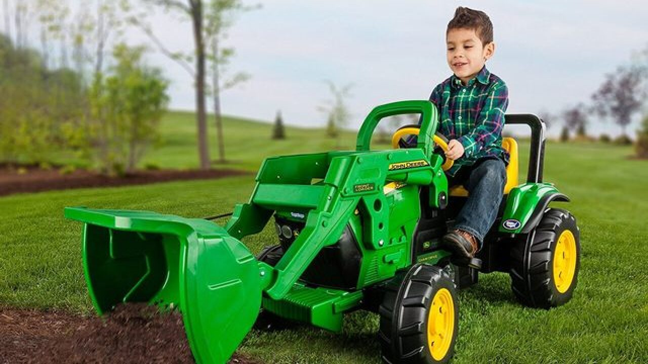 John Deere ride-on toy tractor on sale