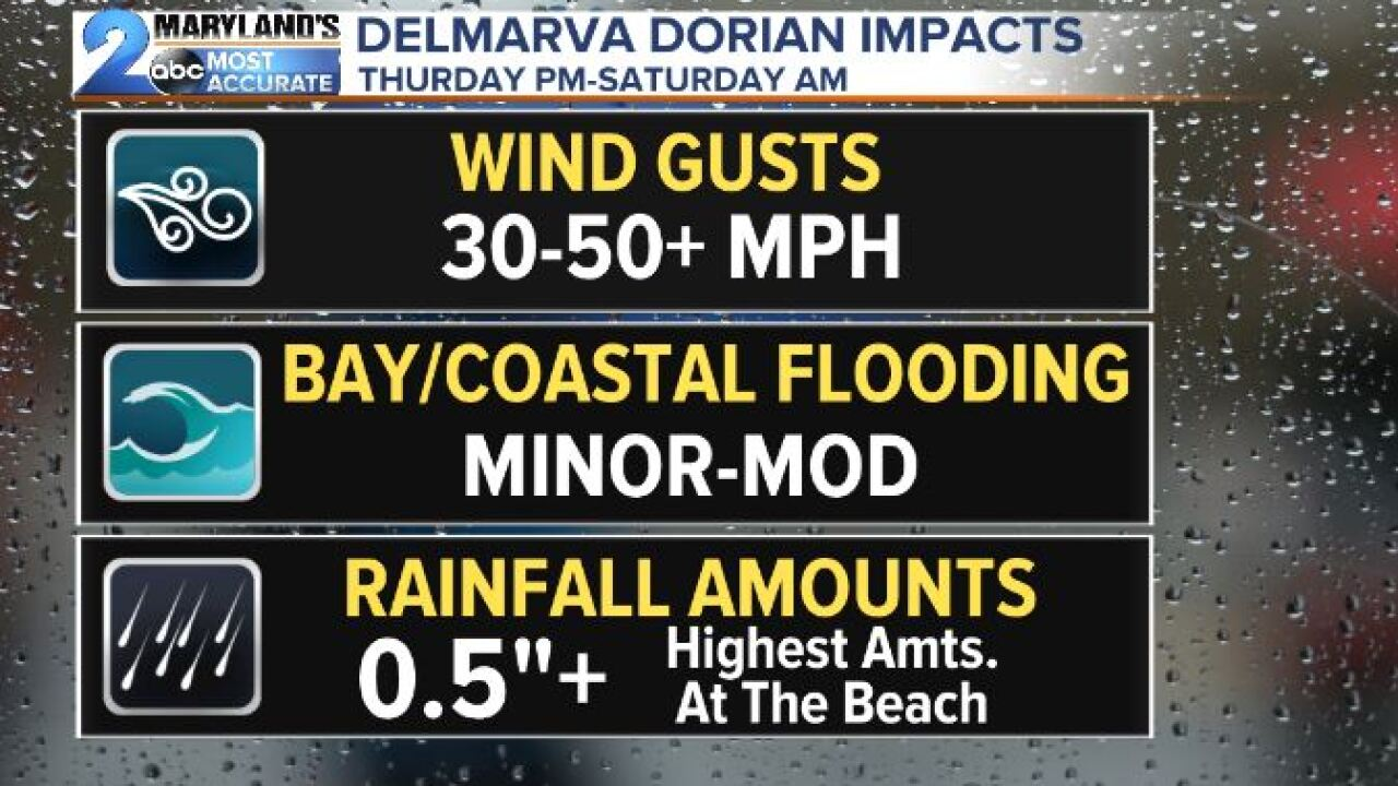 Dorian's Impacts To Maryland