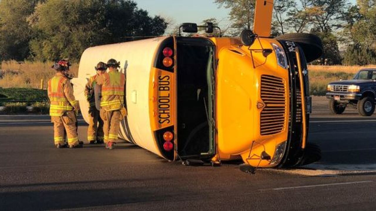 School bus, vehicle crash in Meridian