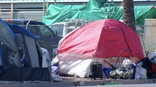 Homeless camps in downtown Phoenix