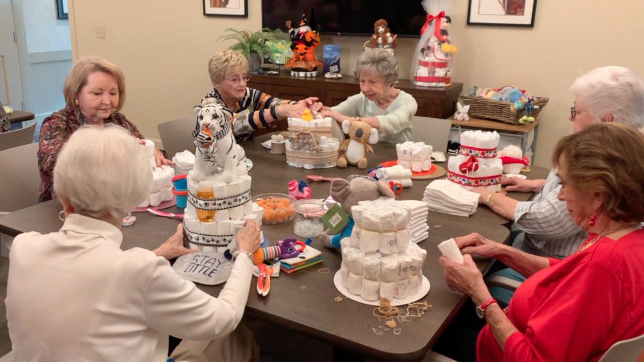 Valley seniors make diaper cakes