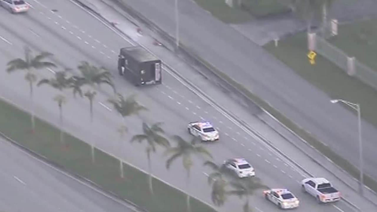 Police chase involving UPS truck ends in deadly shooting in South Florida